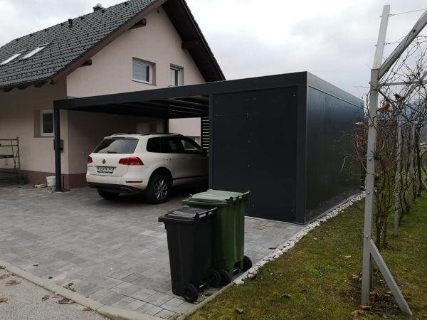 Uberdachungen mit hutte